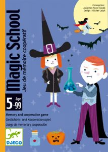 Jeu de carte Magic School de djeco : Tous à vos baguettes magiques !
