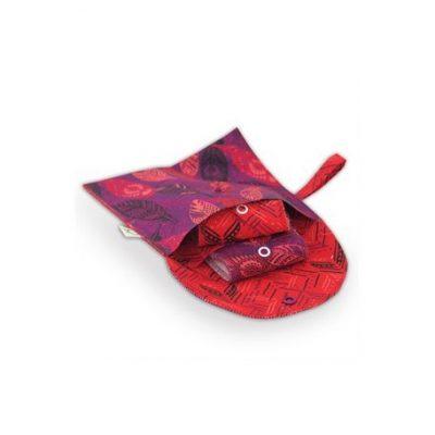 Pochette double petite pratique pour ranger ses masques à lécole, au bureau ou dans sa voiture !